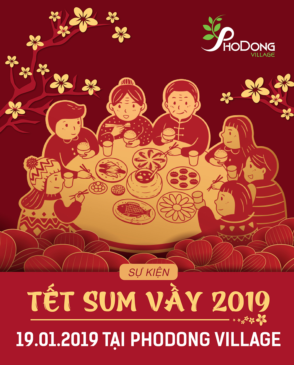 """THE INVESTOR OF PHODONG VILLAGE URBAN AREA ORGANIZSES A PROGRAMME CALLED """"TET SUM VAY 2019"""""""